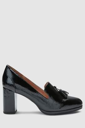 aac13036f24 Next Womens Black Patent Tassel Platform Loafers
