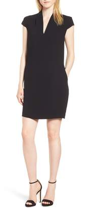 Whistles Paige V-Neck Crepe Shift Dress