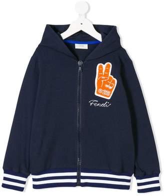 Fendi peace patch hoodie
