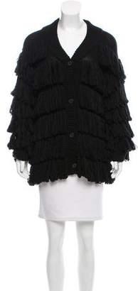 Mara Hoffman Fringed Button-Up Cardigan w/ Tags