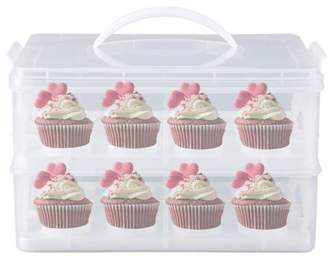 Balancesun Portable Cupcake Cookie Cake Dessert Carrier Paper Cup Mini Cake Box Cup Cake Holder Box Storage Container Carrying Case