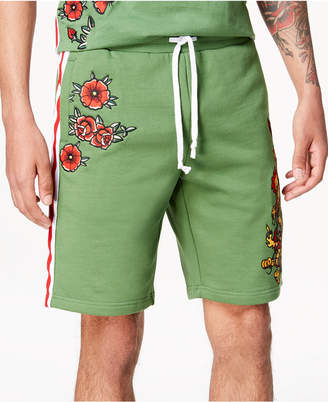 "Reason Men's Embroidered 10"" Shorts"