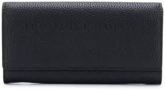 Burberry embossed logo wallet