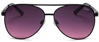 Quay Women's Vivienne Mini Aviator Sunglasses, 54mm