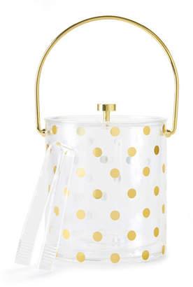 Kate Spade Gold Dots Acrylic Ice Bucket