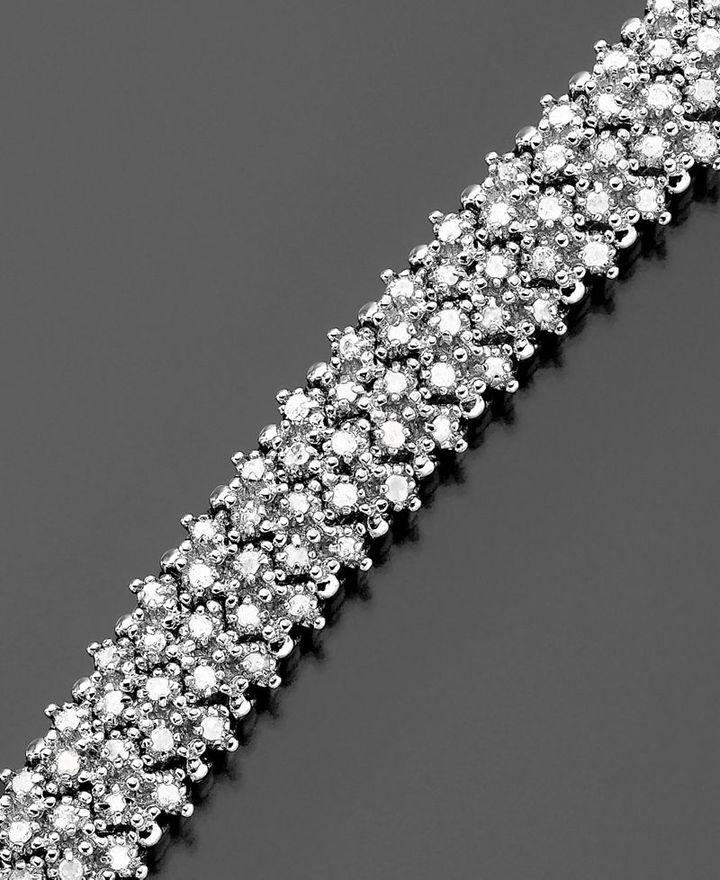 Sterling Silver Bracelet, Diamond  (2 ct. t.w.)