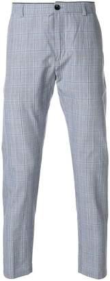 Department 5 plaid straight leg trousers