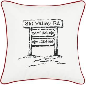 Eddie Bauer Ski Village Throw Pillow