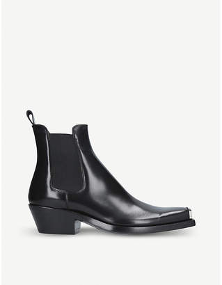 Calvin Klein Collection Chris leather Western ankle boots