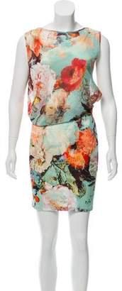 Jean Paul Gaultier Soleil Floral Print Mini Dress w/ Tags