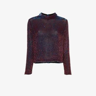 Ashish sequin embellished silk top