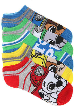 High Point Design Paw Patrol Toddler & Youth No Show Socks - 5 Pack - Boy's