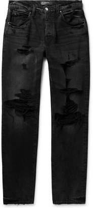 Amiri Distressed Stretch-Denim Jeans