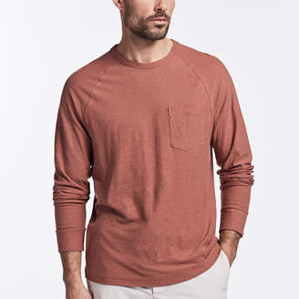 James Perse COTTON LINEN POCKET CREW
