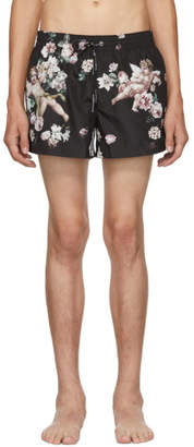Dolce & Gabbana Black Floral Swim Shorts