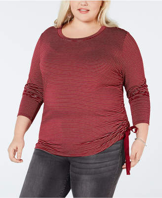 Soprano Plus Size Cinched Side-Tie Top