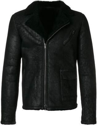 Salvatore Santoro shearling zipped jacket