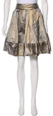 Diane von Furstenberg Tressa Metallic Skirt