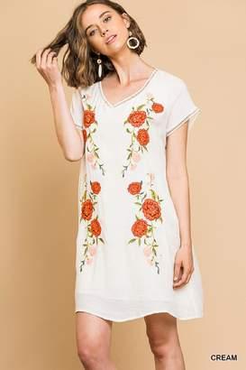 Umgee USA Romantic Embroidered Dress