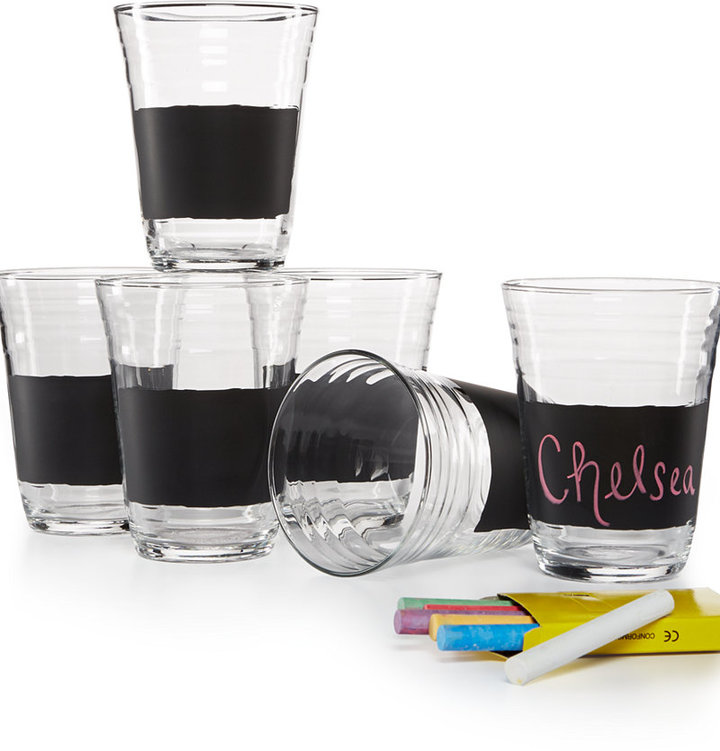 Luminarc Set of 6 Chalk Party Glasses