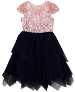 Rare Editions Little Girls Sequin Fairy Hem Dress