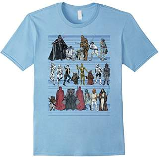 Star Wars Character Lineup Retro Classic Graphic T-Shirt