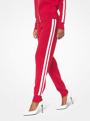 Michael Kors Stretch-Viscose Striped Joggers