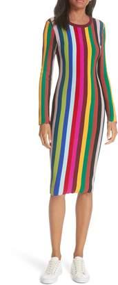 Milly Vertical Stripe Body-Con Dress
