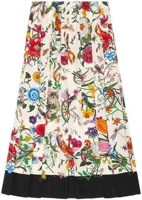 Gucci Flora snake print skirt