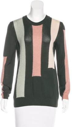 Tory Burch Long Sleeve Color Block Sweater