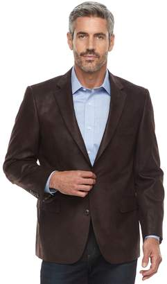 Jean Paul Gaultier Germain Big & Tall Jean-Paul Germain Classic-Fit Faux-Leather Sport Coat