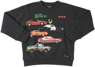 Finger In The Nose Cars Printed Cotton Sweatshirt