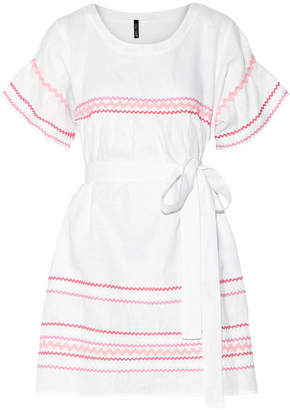 Lisa Marie Fernandez - Fiesta Rickrack-trimmed Linen Mini Dress - White $695 thestylecure.com