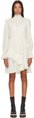 See by Chloe White Layered High-Neck Dress