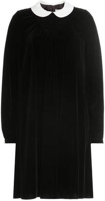 Valentino Virgin Wool Velvet Dress
