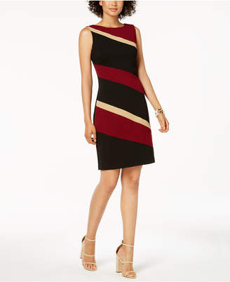 Connected Petite Colorblocked Sheath Dress