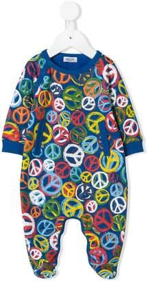 Moschino Kids peace sign pajamas