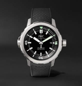 IWC SCHAFFHAUSEN Aquatimer Automatic 42mm Stainless Steel And Rubber Watch