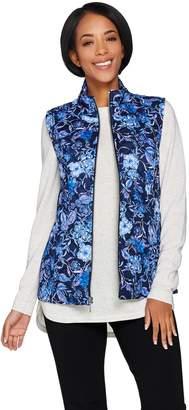 Susan Graver Weekend Printed Cotton Zip Front Vest
