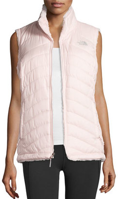The North Face Mossbud Swirl Fleece & Taffeta Reversible Vest, Pink $99 thestylecure.com