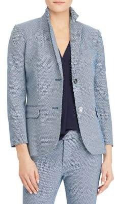 Lauren Ralph Lauren Printed Notch Lapel Blazer
