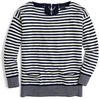 J.Crew Tie-Back Cashmere Pullover Sweater