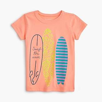 "J.Crew Girls' ""surf the wave"" T-shirt"