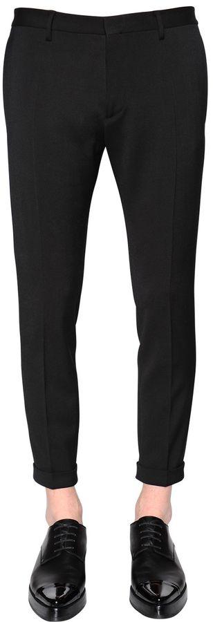 15cm Skinny Stretch Wool Cady Pants