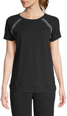 ST. JOHN'S BAY SJB ACTIVE Active-Womens Round Neck Short Sleeve T-Shirt