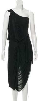 Alexander Wang Sleeveless Midi Dress Black Sleeveless Midi Dress