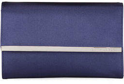 Judith Leiber Couture Quinn Satin Chain-Strap Clutch Bag