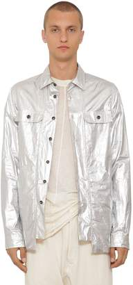 Rick Owens Metallic Cotton Shirt Jacket
