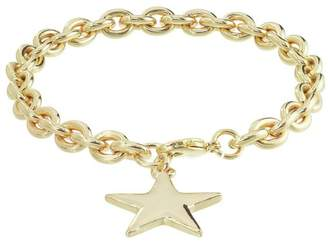 Charm & Chain Amelia Grace Gold Plated Star Charm Chain Bracelet