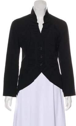 Issey Miyake Long Sleeve Linen & Wool-Blend Blazer